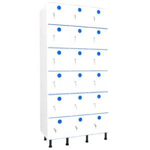 taquillas de plástico 18 puertas 3 columnas